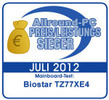 "Biostar TZ77XE4 received ""Price / Perforance Award"" from Allround-pc.com, Germany:"