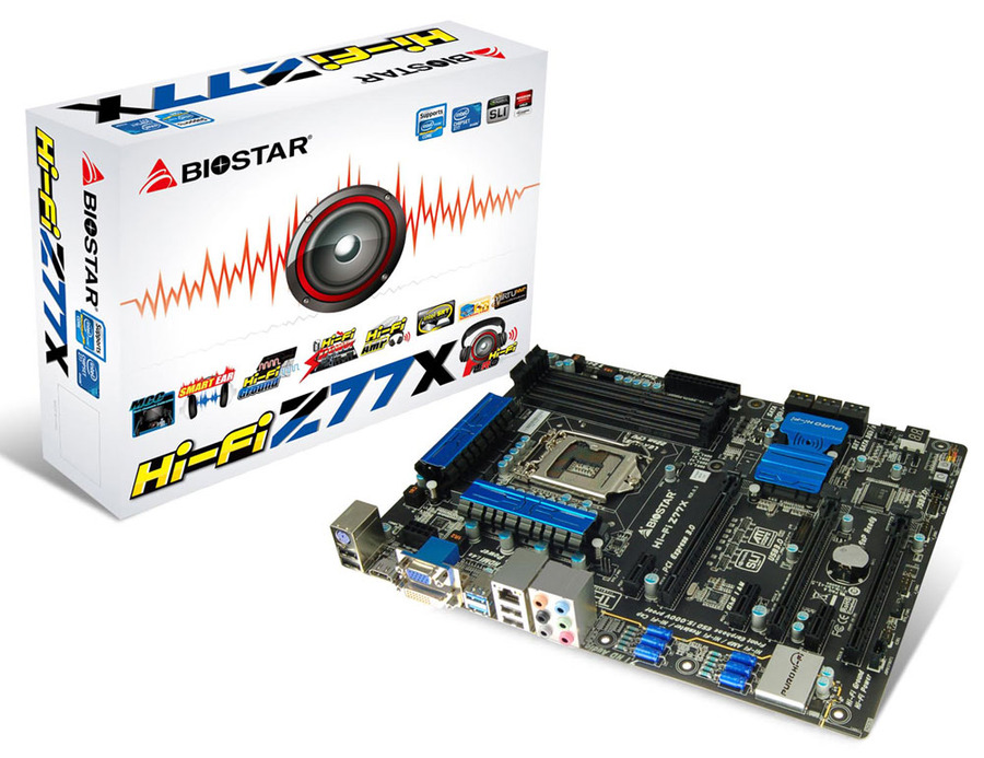 Hi-Fi Z77X INTEL Socket 1155 gaming motherboard