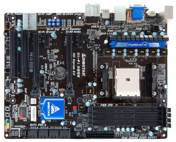 Hi-Fi A85W AMD Socket FM2 gaming motherboard