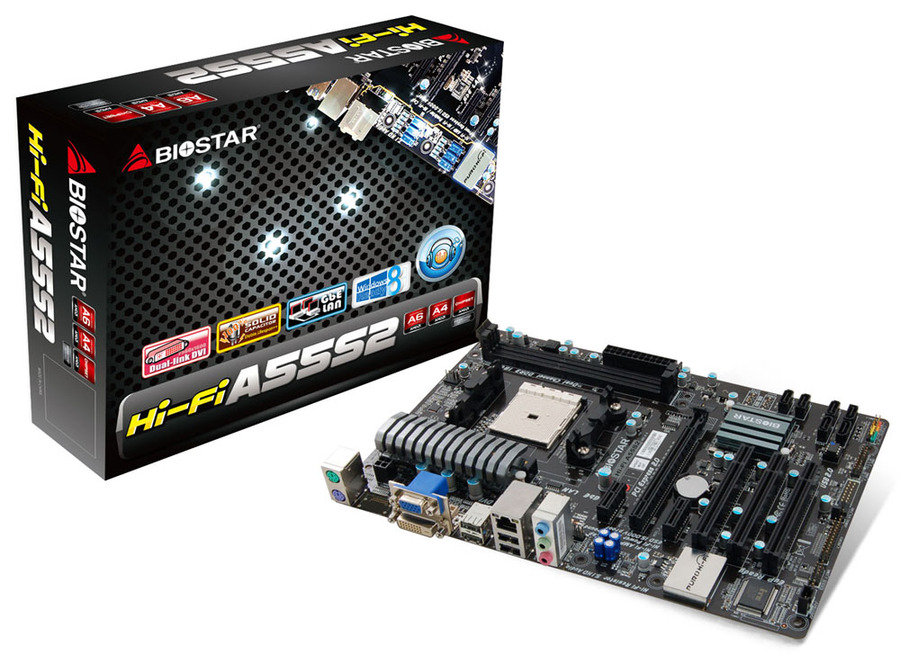 Hi-Fi A55S2 AMD Socket FM2 gaming motherboard