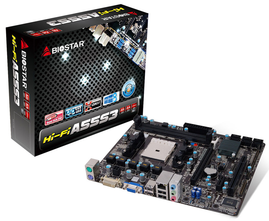 Hi-Fi A55S3 AMD Socket FM2 gaming motherboard