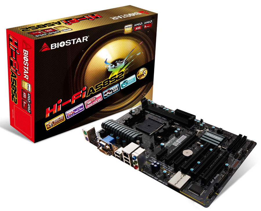 Hi-Fi A58S2 AMD Socket FM2+ gaming motherboard