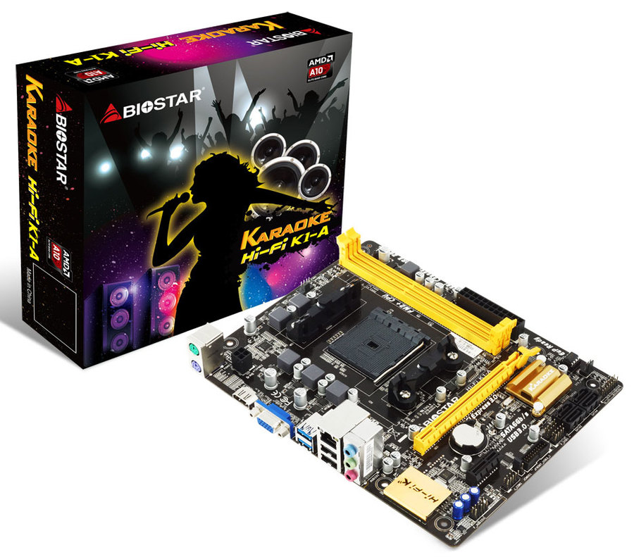 Hi-Fi K1-A AMD Socket FM2+ gaming motherboard