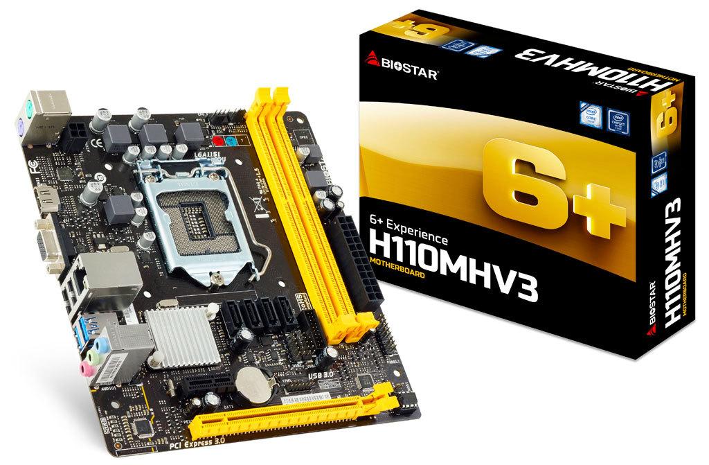 H110MHV3 Ver. 7.x INTEL Socket motherboard gaming-Biostar