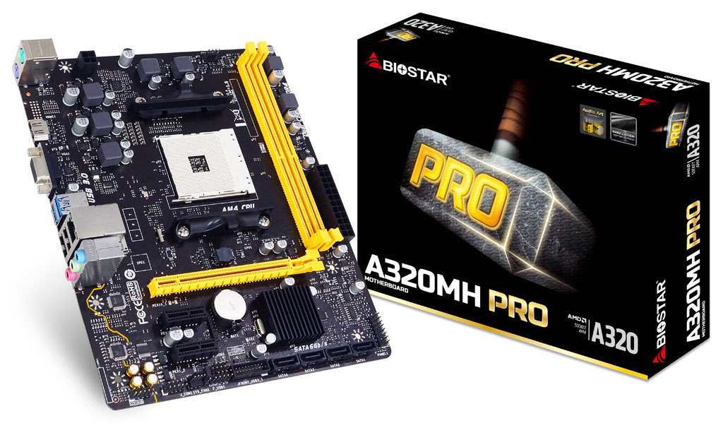 A320MH PRO AMD Socket AM4 gaming motherboard